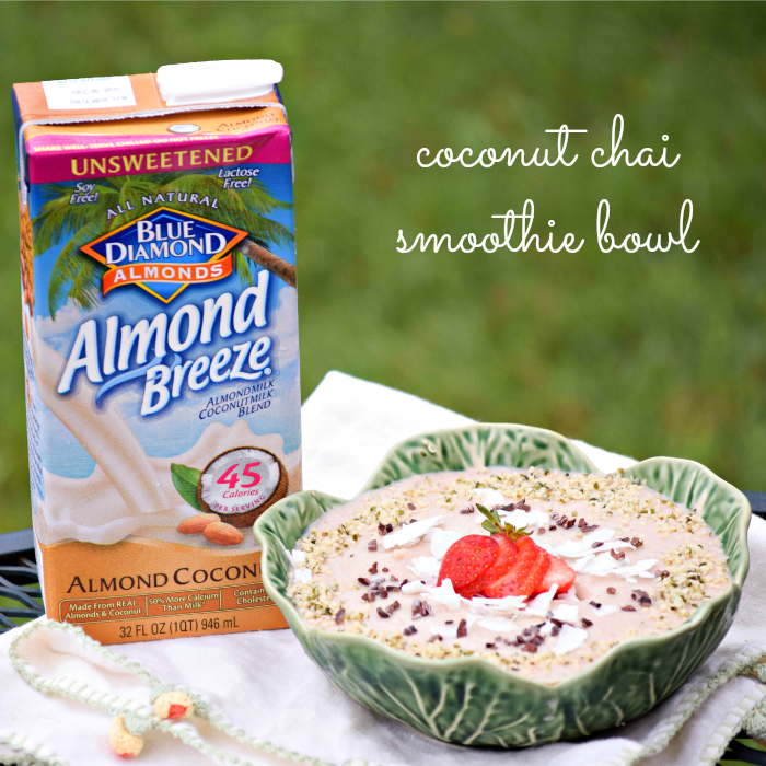 Almond Coconut Milk from Almond Breeze makes a healthy, creamy base for your smoothie bowls and blended beverages.