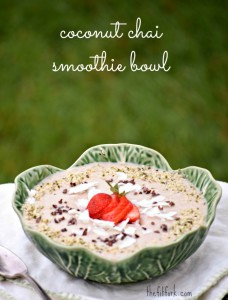 Coconut Chia Smoothie Bowl makes a quick, easy and healthy breakfast or post-workout snack.