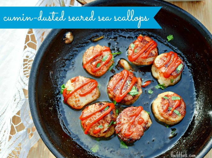 Cumin-Dusted Seared Sea Scallops are so quick and easy to make -- plus very healthy!