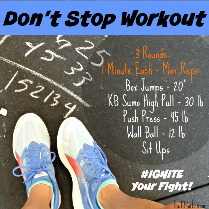 Don't Stop Workout - Ignite your fight in this CrossFit style workout from TheFitFork.com
