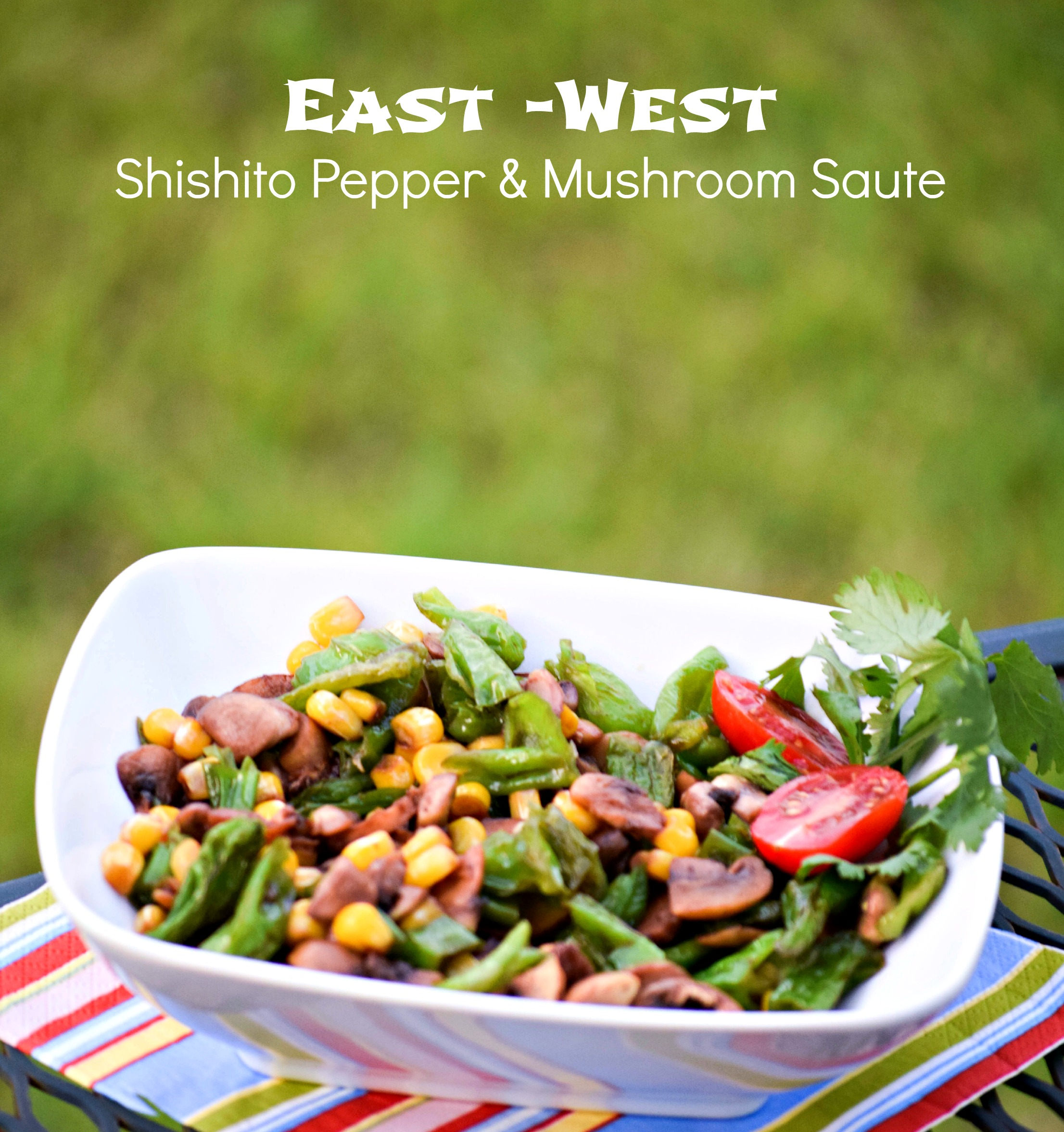Shishito Pepper and Mushroom Saute packed with loads of veggies and bold umami taste - TheFitFork.com