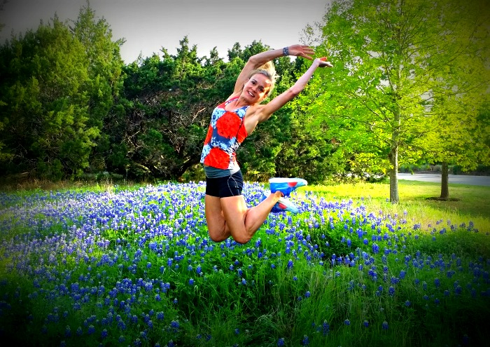 Jumping in Bluebonnets Puma Ignites