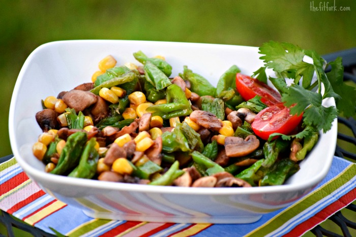 Umami-Rich Mushrooms, Corn & Chile Pepper Saute - TheFitFork.com