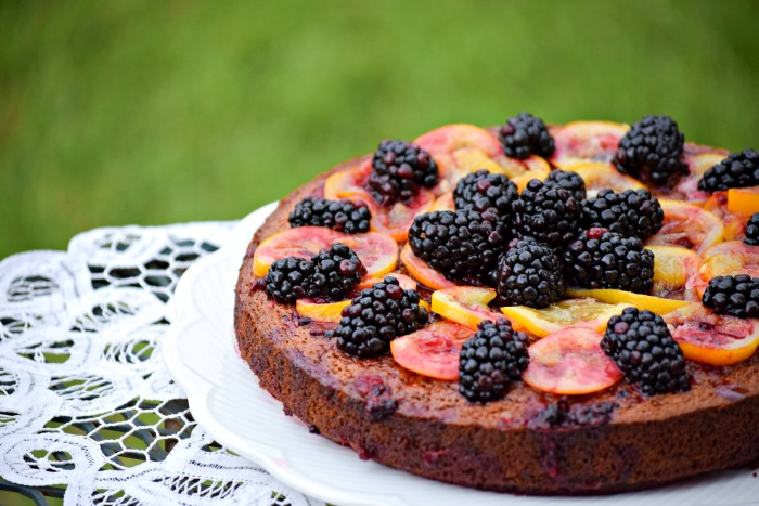 Paleo Blackberry Lemon Cake - TheFitFork.com