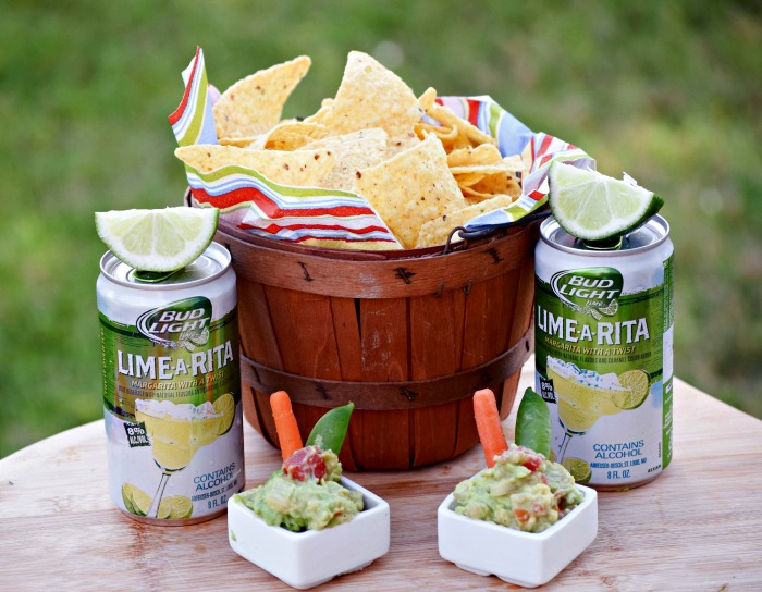Get the party started with RO*TEL's Rockin Guac and Bud Light Lime-A-Ritas!