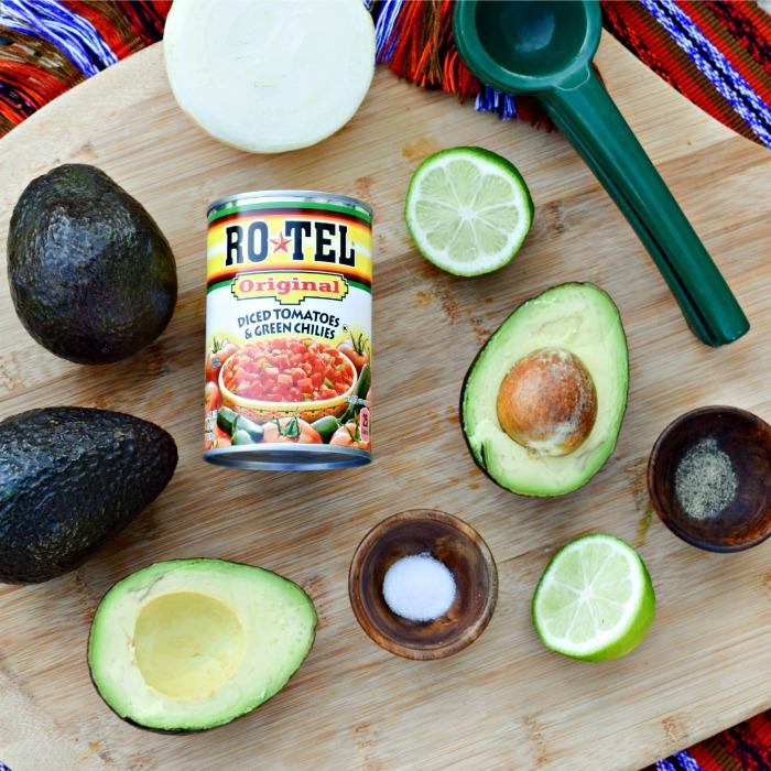 RO*TEL's Rockin' Guac -- this avocado guacamole is easy to make and delicious!