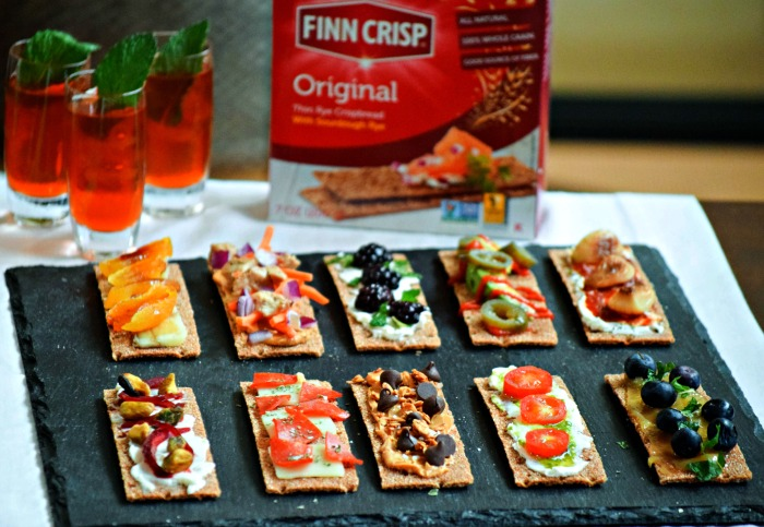 Finn Crisp Crackers are baked with whole grains and fiber, making them a nutritious foundation for all sorts of toppings.