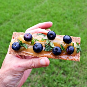 Blueberry Lemon Curd Crostini