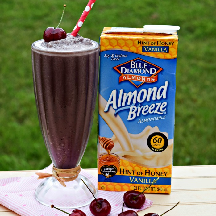 Make this healthy Cherry Vanilla Root Beer Float with Almond Breeze Touch of Honey Flavor for just the right amount of natural sweetness.