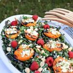 Grilled Apricot Kale Salad #SaladRevolution