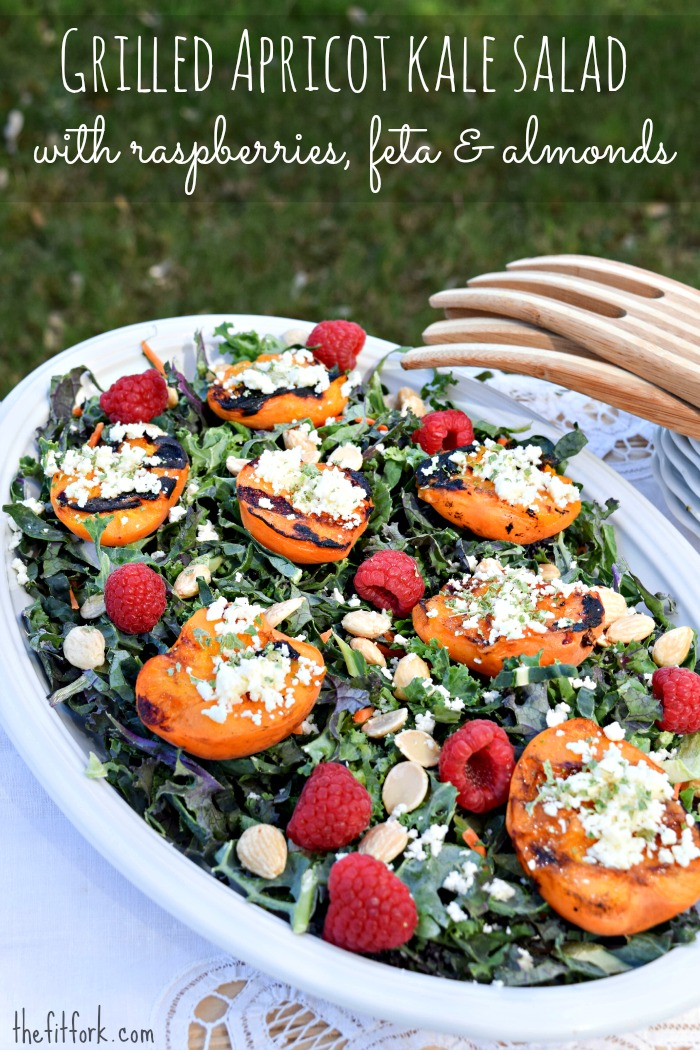 Grill apricots to magnify their flavor and toss on an easy dale salad!