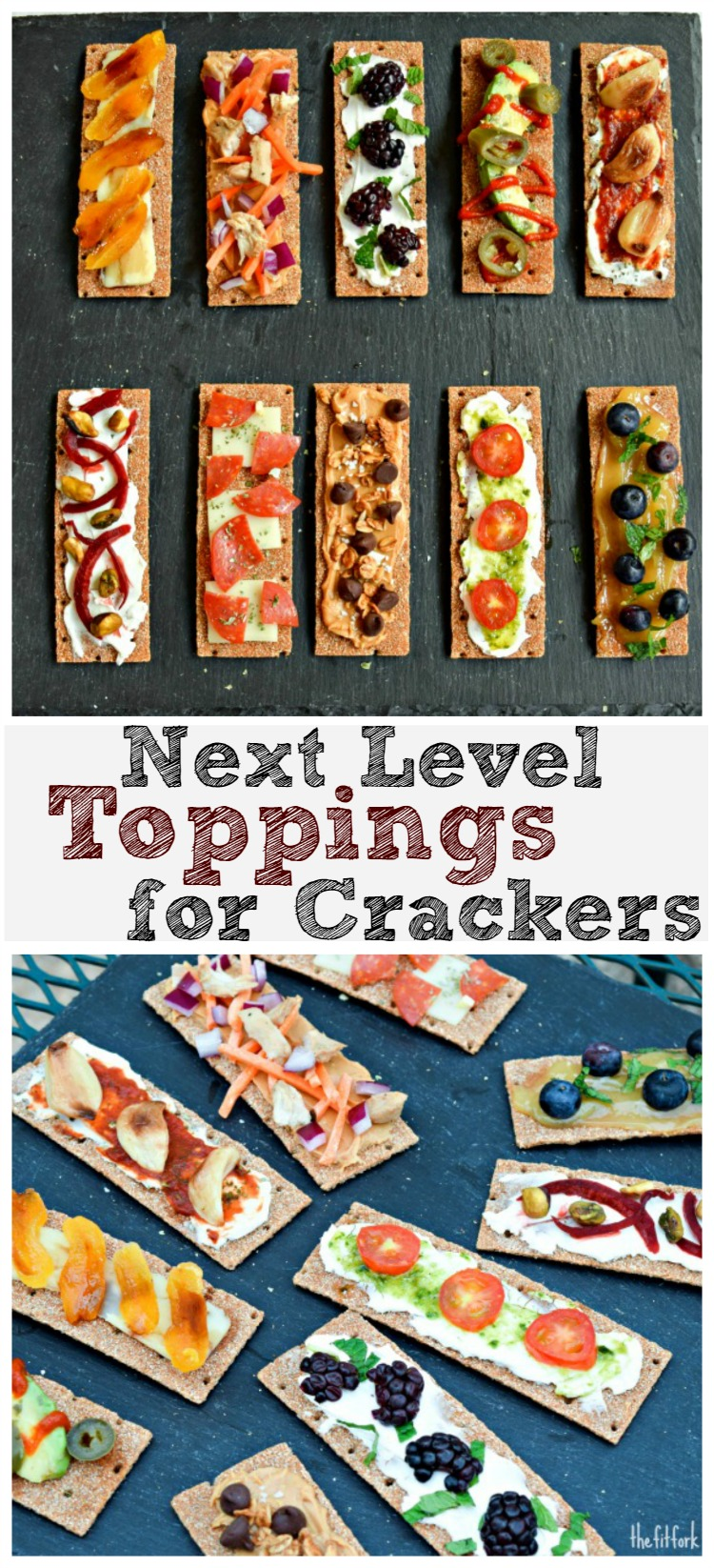 These Next Level Cracker Toppings are an easy yet elegant appetizer for a party, celebration or just snacking!
