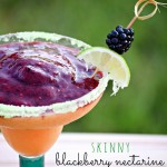 Skinny Blackberry Nectarine Margarita and Virgin Smoothie Option