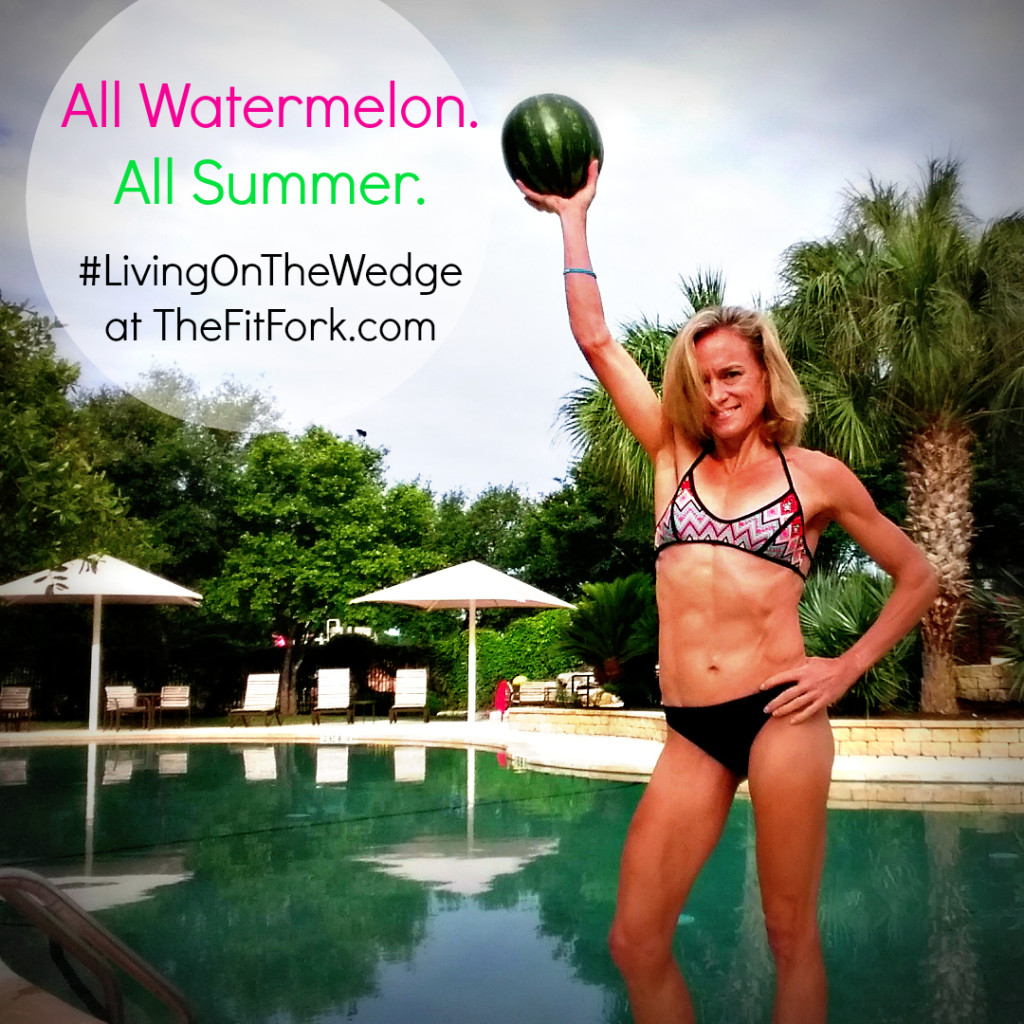 It's all watermelon, all summer at TheFitFork.com! Come visit for healthy recipes, nutrition tips, watermelon workouts, family fun and other ways to make my favorite fruit part of a fit and fun lifestyle!