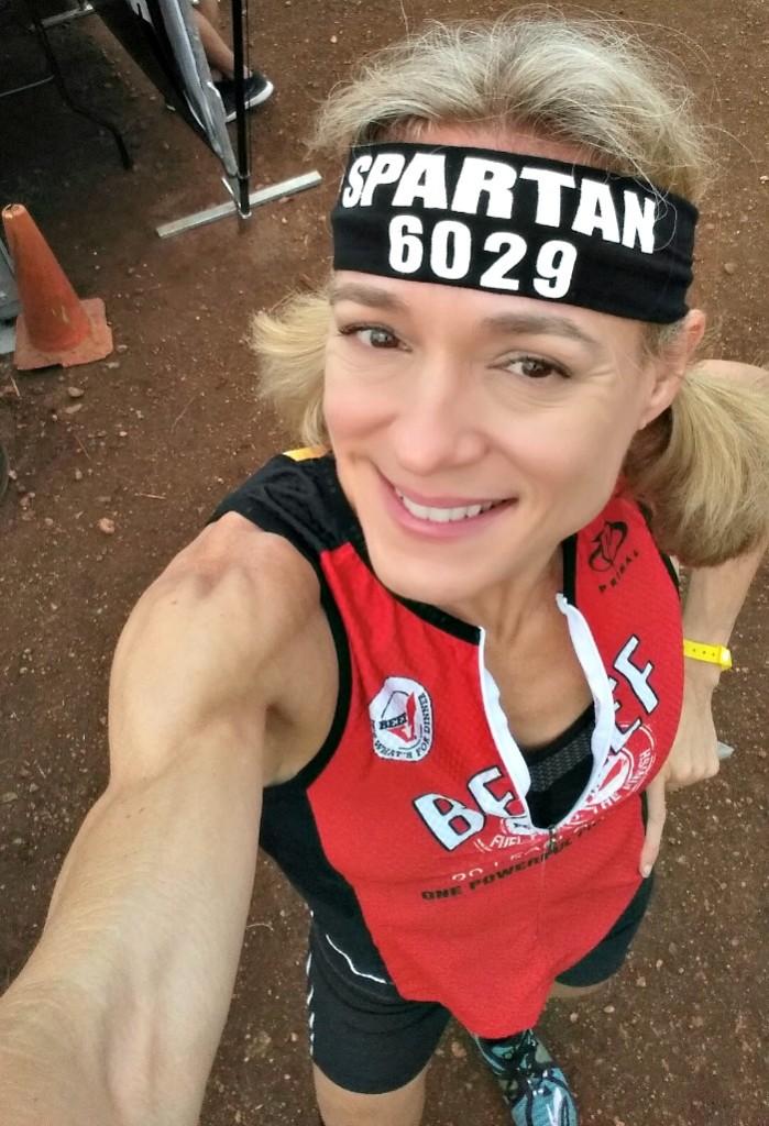 Pre Spartan Race selfie -- Jennifer Fisher TheFitFork.com