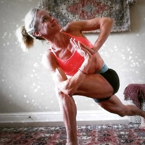 Side Angle Revolved Pose Yoga - Jennifer Fisher - TheFitFork.com