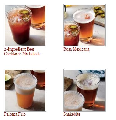 two ingredient beer cocktails