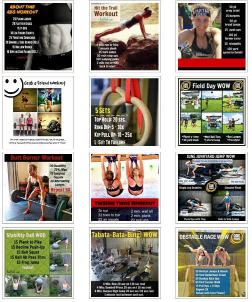 Check out my workout gallery for new exercise and wod ideas to add to your fitness routine.