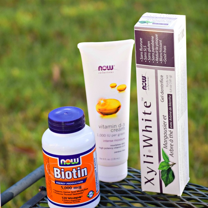 Now Solutions Toothpaste, Biotin and Vitamin D cream