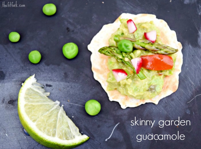 Lightened up Skinny Garden Guacamole makes a fit and flavorful appetizer !