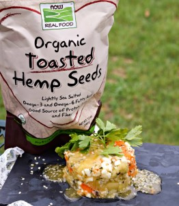 NOW Foods Organic Toasted Hemp Seeds perfect for snack or recipes.