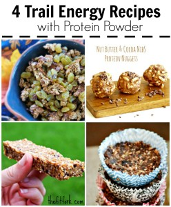These four easy, packable  recipes use protein powder for added nutrition -- making them perfect to take on a hike or trail run.