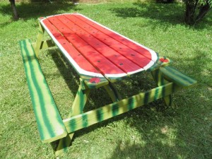 Watermelon Picnic Table