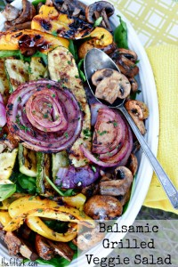 Take advantage of the summer's best produce with this Balsamic Grilled Vegetable Salad -- and check out the grilling tips.