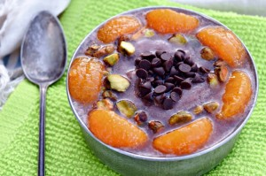 Chocolate Orange Pistachio Smoothie Bowl horizontal