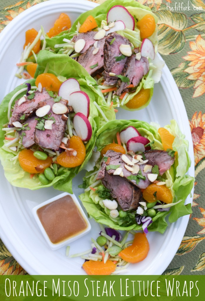 Orange Miso Steak Lettuce Wraps + 6 More Protein Saladsthefitfork.com