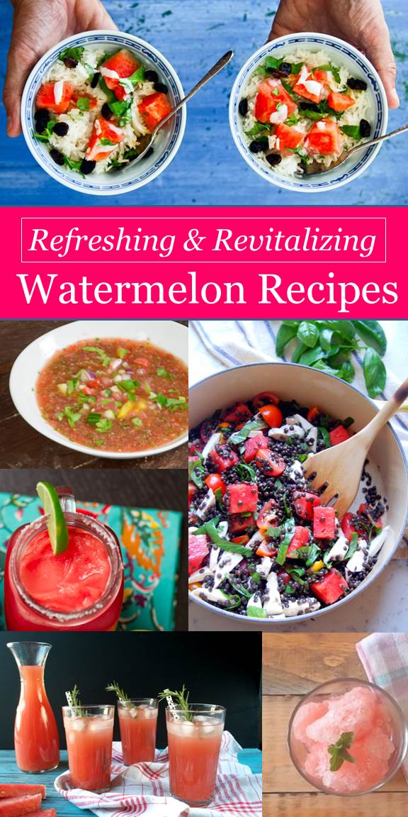 These unique watermelon recipes are refreshing, revitalizing and perfect for summer meals and outdoor entertaining.