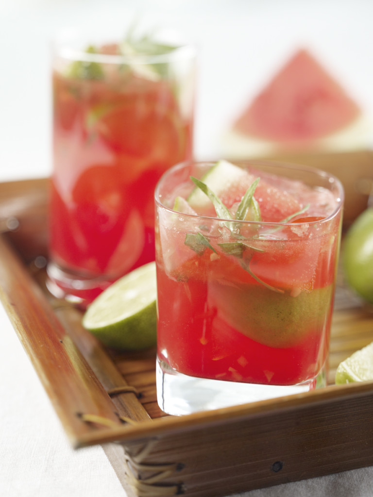 Enjoy a Watermelon Caipirinhas, a summery cocktail for your next outdoor party.
