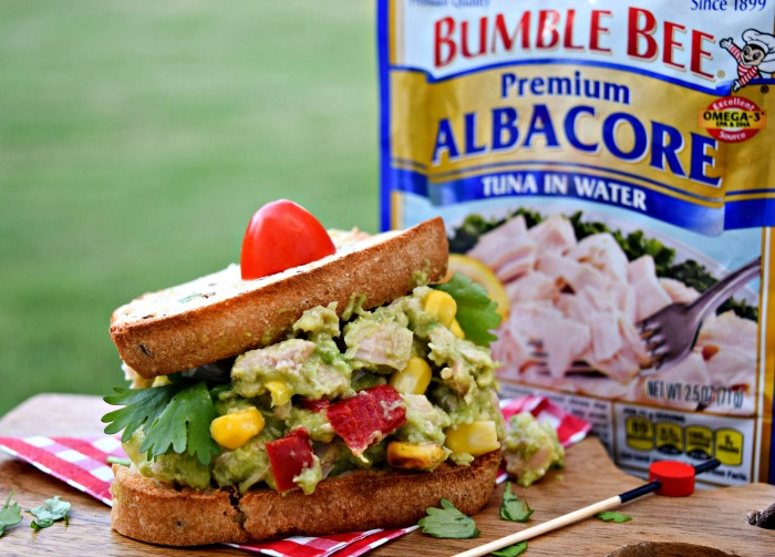 Add Bumble Bee Tuna and Avocado atop whole grain bread for a healthy, filling lunch.