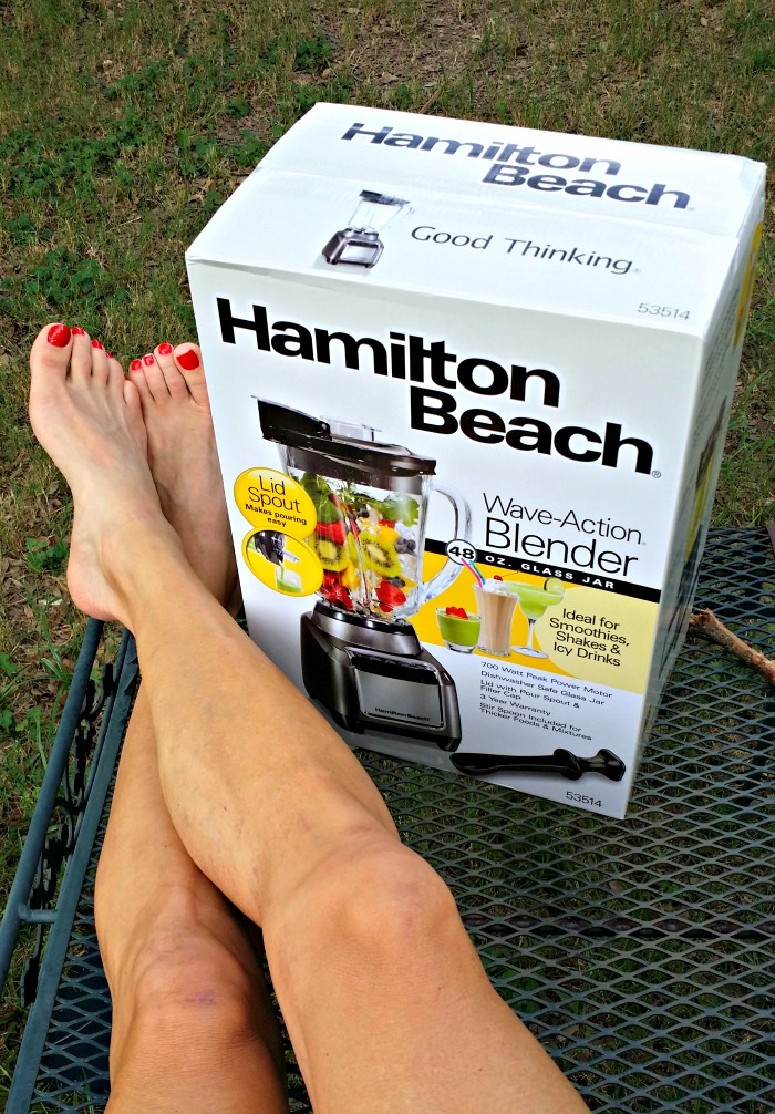 Relax, Hamilton Beach's Wave Action Blender is ready to whip you up a smoothie, shake or icy drink this summer!