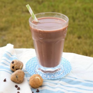 Chocolate Almond Milk and protein bites -- a great snack!