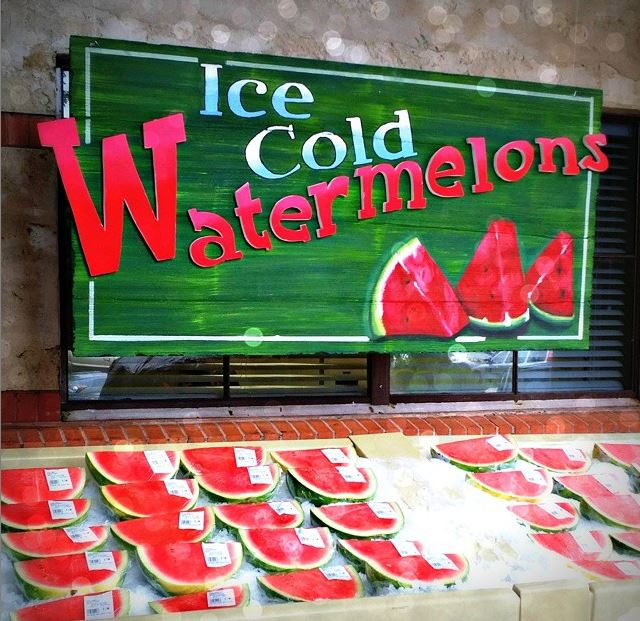 Ice Cold Watermelon perfect healthy treat for summer -- only 80 calories per cut and 92 percent water to stay hydrated.