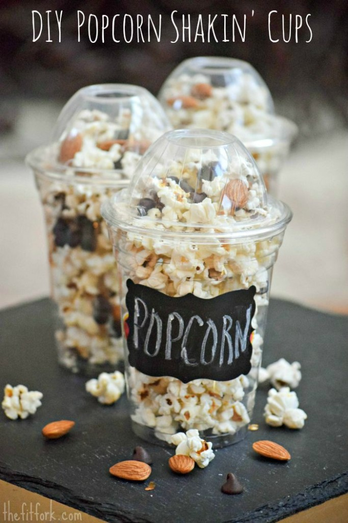 Make these DIY Popcorn Shakin' Cups for your next party or family movie night.