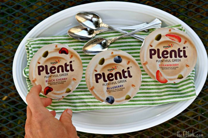 Plenti Greel Yogurt by Yoplait has 12 grams of protein and makes a satisfying, healthy snack.