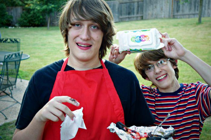 Kids, Messy Desserts and Wet Naps