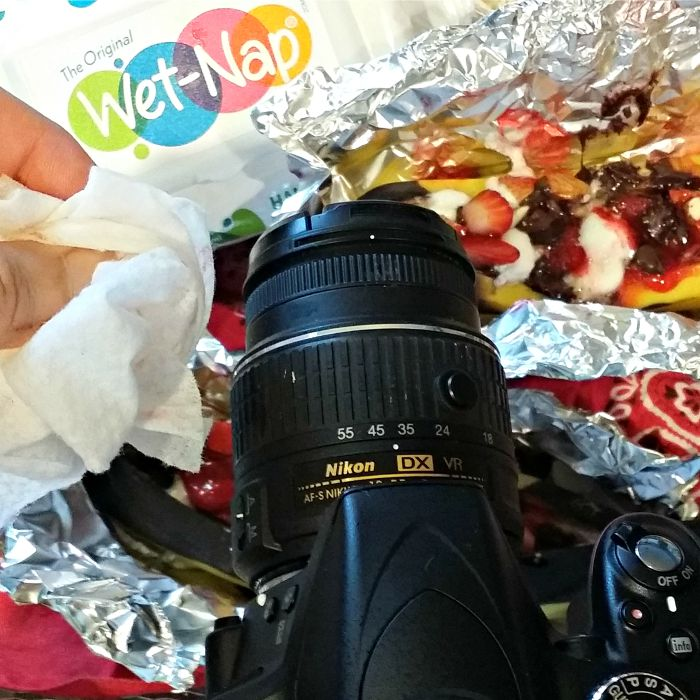 Wet Naps are a must for a food blogger's camera!