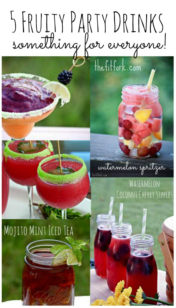 These five fruity drinks are perfect for your next party and there are options with alcohol and virgin.