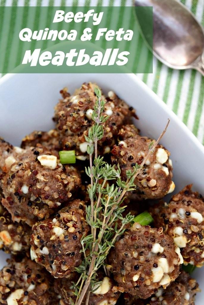 Beefy Quinoa Meatballs