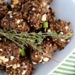 Beef Quinoa Feta Meatballs