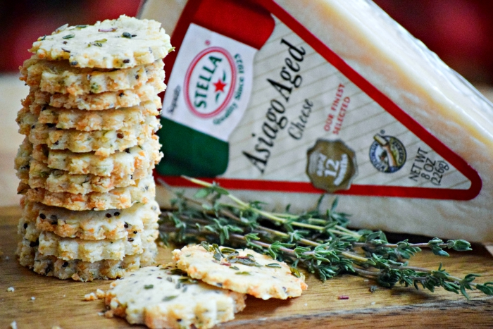 Glueten Free Asiago Almond Cracker with Stella Cheeses