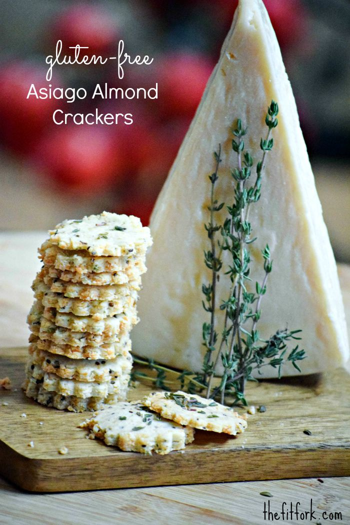 Gluten Free Asiago Almond Crackers
