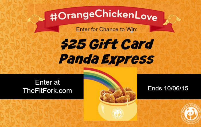 Win a $25 Panda Express Gift Card at TheFitFork.com