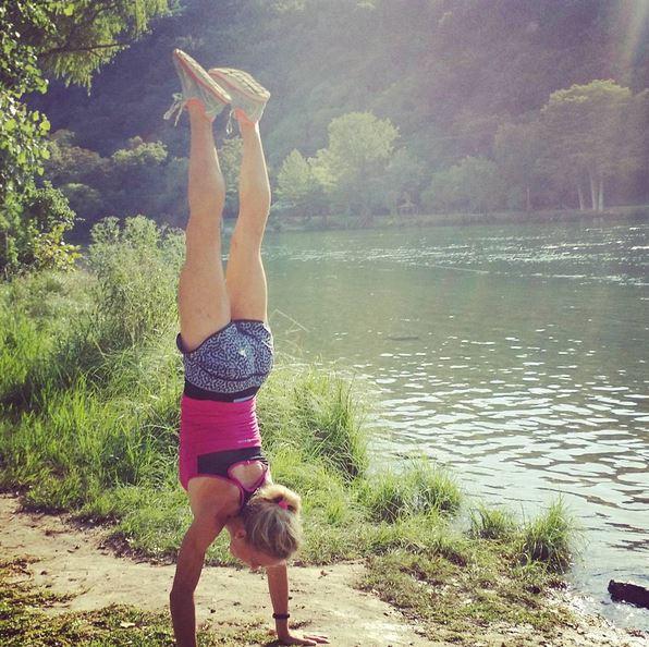 Handstand at Lake