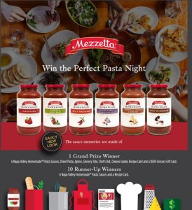 Mezzetta Perfect Pasta Night Giveaway