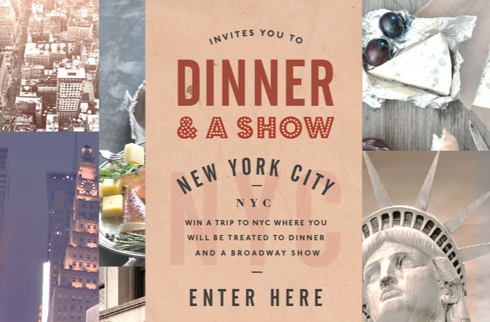 Win Dinner & a Show NYC Trip from Stella Cheeses