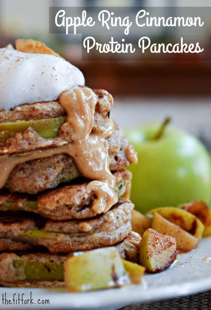 Apple Ring Protein Pancakes